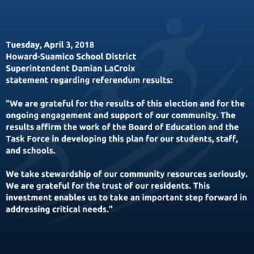 HSSD Referendum Statement April 3, 2018